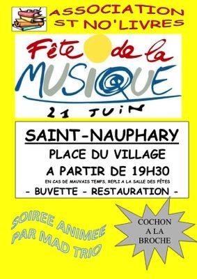 FETE DE LA MUSIQUE #Saint-Nauphary @ Place du Village