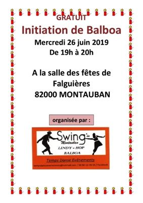INITIATION DE BALBOA (DANSE SWING) #Montauban @ salle des fêtes de Falguières