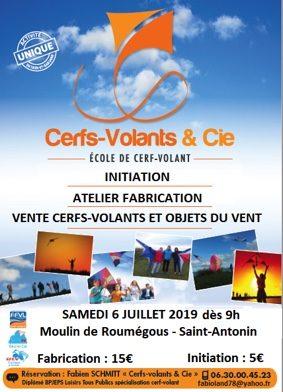 INITIATION-FABRICATION-ESSAIS-VENTE CERFS-VOLANTS #Saint-Antonin-Noble-Val @ Zones enherbées autour du Moulin de Roumégous