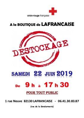JOURNEE DESTOCKAGE #Lafrançaise @ BOUTIQUE CROIX ROUGE