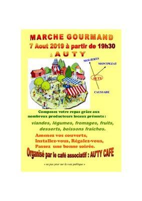 MARCHÉ GOURMAND #Auty @ Place de la Mairie