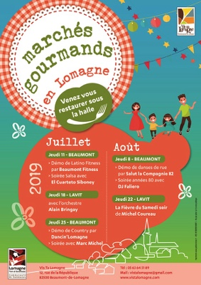 MARCHÉ GOURMAND #Lavit-de-Lomagne @ Place de la Halle