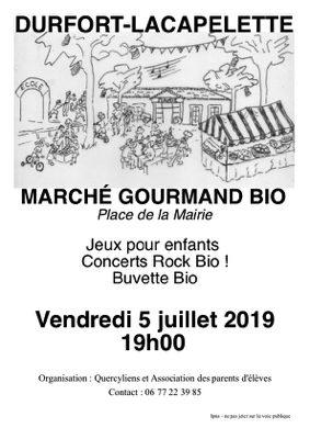 MARCHE GOURMAND BIO #Durfort-Lacapelette @ place de la Mairie