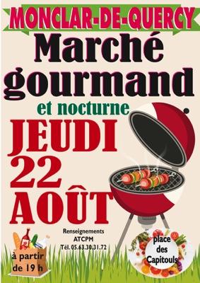 MARCHÉ GOURMAND ET NOCTURNE #Monclar-de-Quercy @ place des Capitouls