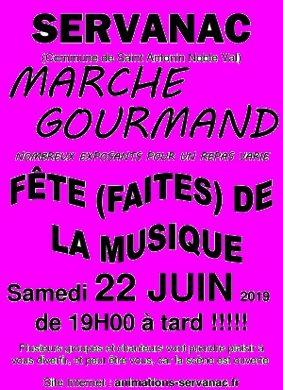 MARCHE GOURMAND ET FÊTE DE LA MUSIQUE #Saint-Antonin-Noble-Val @ Parking de la salle des fêtes de Servanac