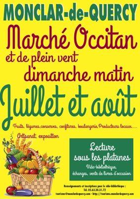 MARCHÉ OCCITAN #Monclar-de-Quercy @ place des Capitouls