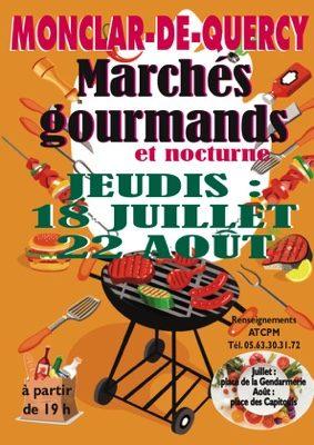 MARCHÉS NOCTURNES ET GOURMANDS #Monclar-de-Quercy @ Place de la Gendarmerie