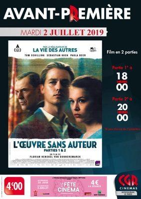 AVANT-PREMIÈRE L'OEUVRE SANS AUTEUR #Montauban @ Cinéma CGR Le Paris