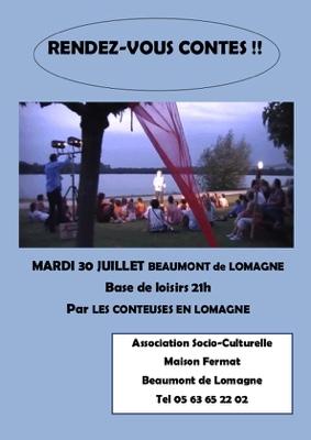 RENDEZ-VOUS CONTES #Beaumont-de-Lomagne @ village de loisir Lomagnol