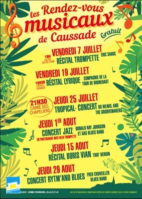 RENDEZ-VOUS MUSICAUX #Caussade @ Carré des Chapeliers