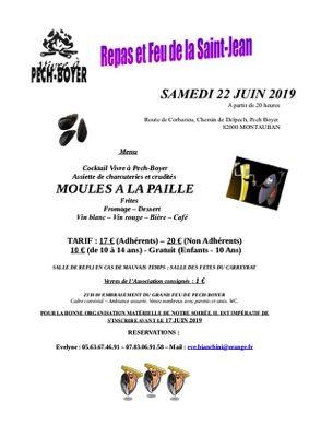 "REPAS ST-JEAN ""MOULES A LA PAILLE"" #Montauban @ Pech Boyer"