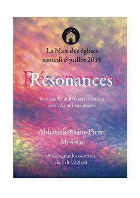 RESONANCES - INVITATION À UNE TRAVERSÉE SONORE AVEC VOIX ET INSTRUMENTS #Moissac @ L'abbatiale Saint-Pierre de Moissac