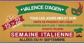 LA SEMAINE ITALIENNE #Valence d'Agen