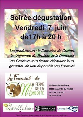 SOIRÉE DÉGUSTATION #Labastide-du-Temple @ Le Fournial