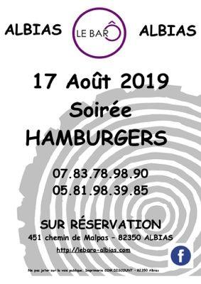 SOIRÉE HAMBURGERS #Albias @ LE BAR Ô