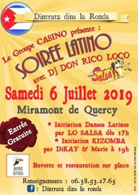 SOIRÉE LATINO AVEC LE GROUPE CASINO ET LO SALSA #Miramont-de-Quercy