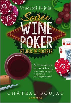 SOIRÉE WINE POKER ET JEUX DE SOCIÉTÉ (AUTOUR DU VIN) #Campsas @ Château Boujac