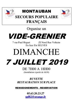 VIDE GRENIER DU SECOURS POPULAIRE #Montauban @ Secours Populaire de Montauban