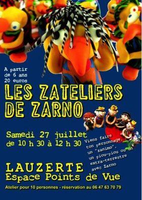LES ZATELIERS DE ZARNO ARTISTE PATAMODELEUR #Lauzerte @ Espace Points de Vue