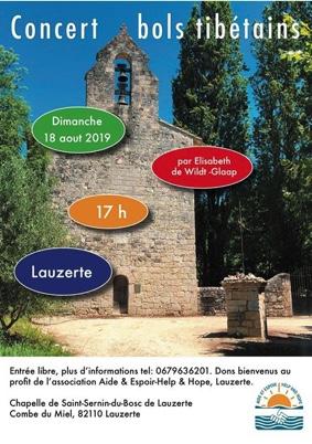 CONCERT DE BOLS TIBÉTAINS #Lauzerte @ Eglise Saint-Sernin-du-Bosc