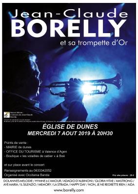 CONCERT JEAN-CLAUDE BORELLY #Dunes @ Eglise de Dunes