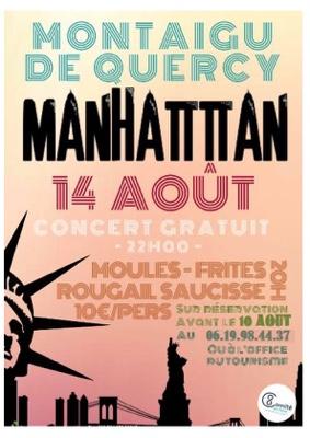 CONCERT MANHATTAN #Montaigu-de-Quercy @ Place Mercadiel