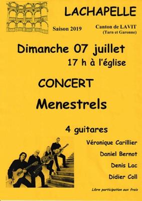 CONCERT LES MÉNESTRELS #Lachapelle @ Eglise