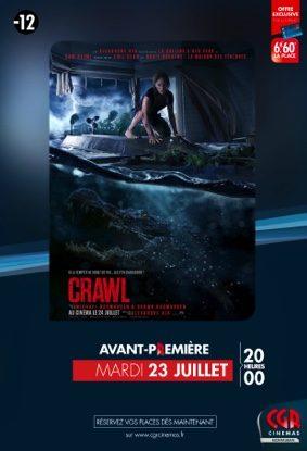 CRAWL EN AVANT-PREMIERE #Montauban @ CGR MONTAUBAN