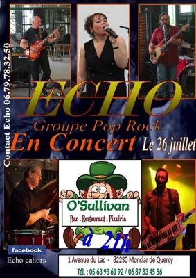 ECHO EN CONCERT #Monclar-de-Quercy @ O'Sullivan Bar Resto Pizzéria