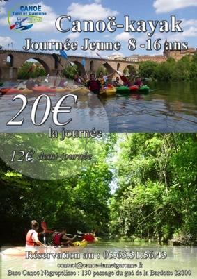 ENCADREMENT ENFANTS CANOË-KAYAK #Nègrepelisse @ Base Canoë Kayak