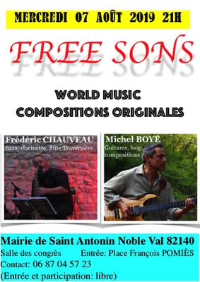 FREE SONS #Saint-Antonin-Noble-Val @ Mairie de Saint-Antonin-Noble-Val