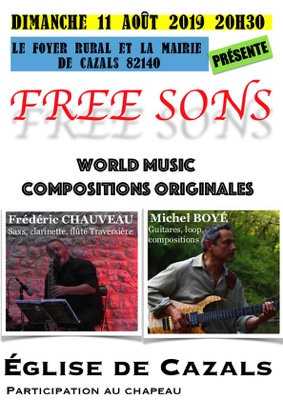 FREE SONS #Saint-Antonin-Noble-Val @ Église de Cazals