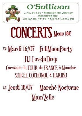 FULLMOON PARTY AVEC DJ LOVEINDEEP #Monclar-de-Quercy @ O'Sullivan Bar Resto Pizzéria