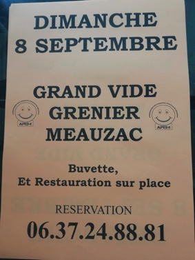 GRAND VIDE GRENIER #Meauzac @ Place du Village