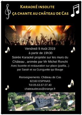 """KARAOKÉ INSOLITE """"ÇA CHANTE À CAS"""" #Espinas @ Château de Cas"""