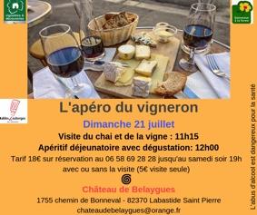 L'APÉRO DU VIGNERON #Labastide-Saint-Pierre @ Château de Belaygues