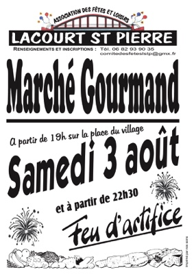 MARCHÉ GOURMAND #Lacourt-Saint-Pierre @ Place du village