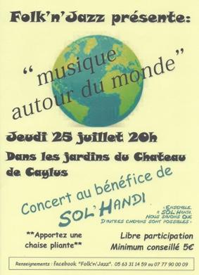 MUSIQUE AUTOUR DU MONDE #Caylus @ Caylus Château