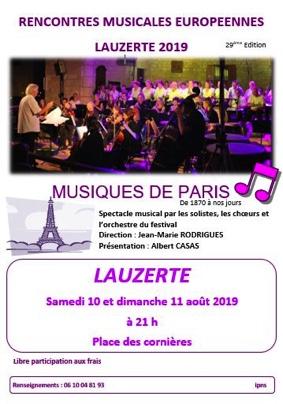 LES MUSIQUES DE PARIS #Lauzerte @ Place des Cornières