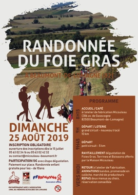 RANDONNÉE DU FOIE GRAS #Beaumont-de-Lomagne @ MICOULEAU