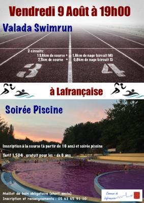 SOIRÉE PISCINE ET SWIMRUN #Lafrançaise @ Vallée des loisirs de Lafrançaise