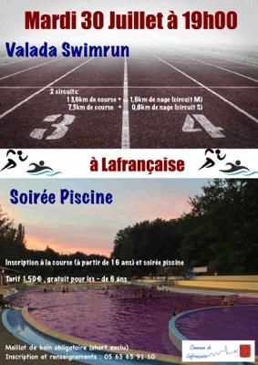 SOIRÉE PISCINE ET SWIMRUN #Lafrançaise @ Vallée des loisirs