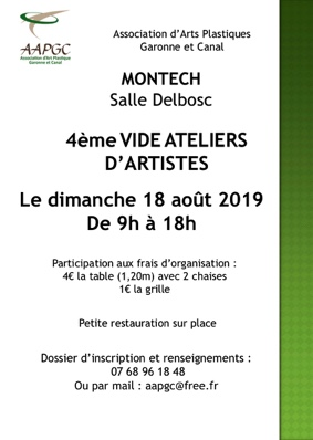 VIDE ATELIER D'ARTISTES #Montech @ Salle  Delbosc