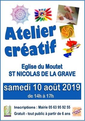 ATELIER LOISIRS CRÉATIFS #Saint-Nicolas-de-la-Grave @ Eglise du Moutet