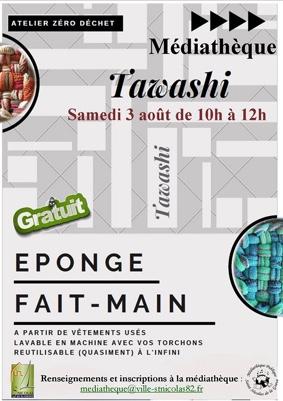 ATELIER LOISIRS CRÉATIFS : TAWASHI #Saint-Nicolas-de-la-Grave @ Médiathèque
