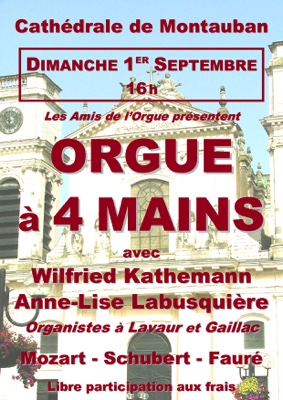 CONCERT D'ORGUE À 4 MAINS #Montauban @ Cathédrale ND de l'Assomption