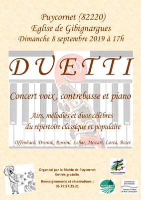 CONCERT DUETTI #Puycornet @ Église de Gibignargues