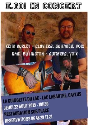 CONCERT ROCK / POP E.GO! #Caylus @ Guinguette du Lac Labarthe