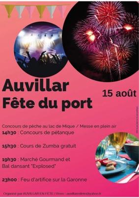 FETE DU 15 AOUT 2019 #Auvillar @ Port d'Auvillar