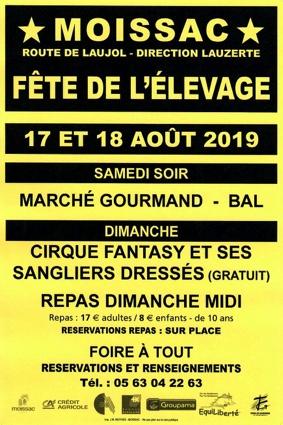 FETE DE L'ELEVAGE, DE LA TRACTION ANIMALE ET DES RACES ANCIENNES #Moissac @ Chemin de Fau, Route de Laujol